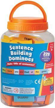 Imagen de sentence-building dominoes